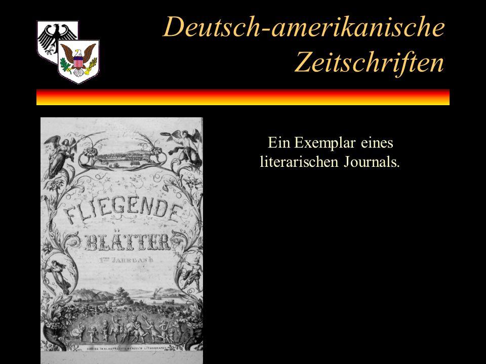 Deutsch-amerikanische Zeitschriften
