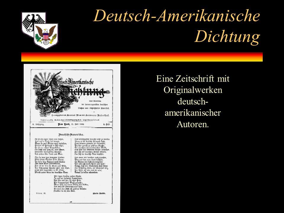 Deutsch-Amerikanische Dichtung