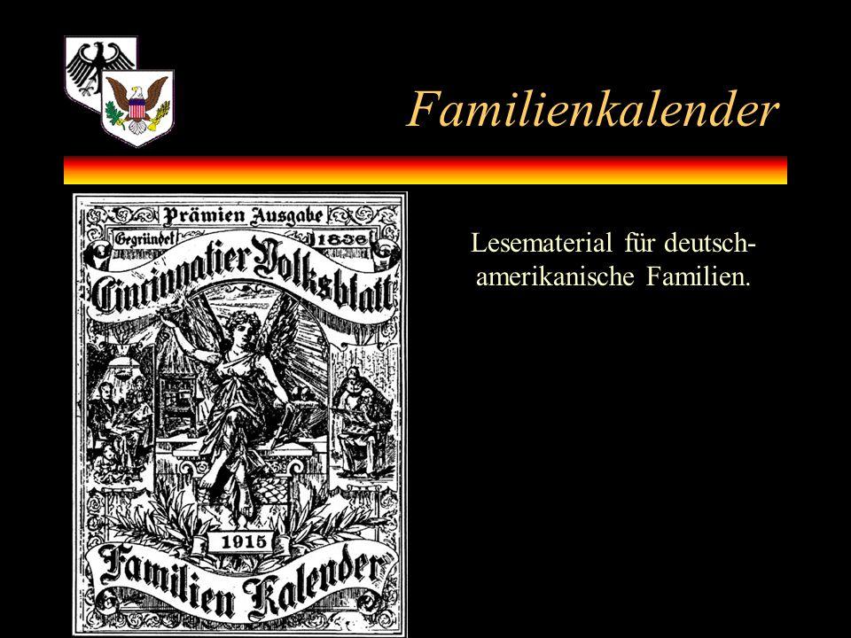 Lesematerial für deutsch-amerikanische Familien.