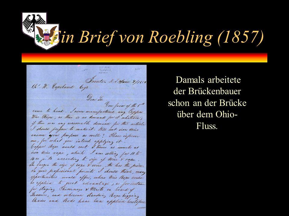 Ein Brief von Roebling (1857)