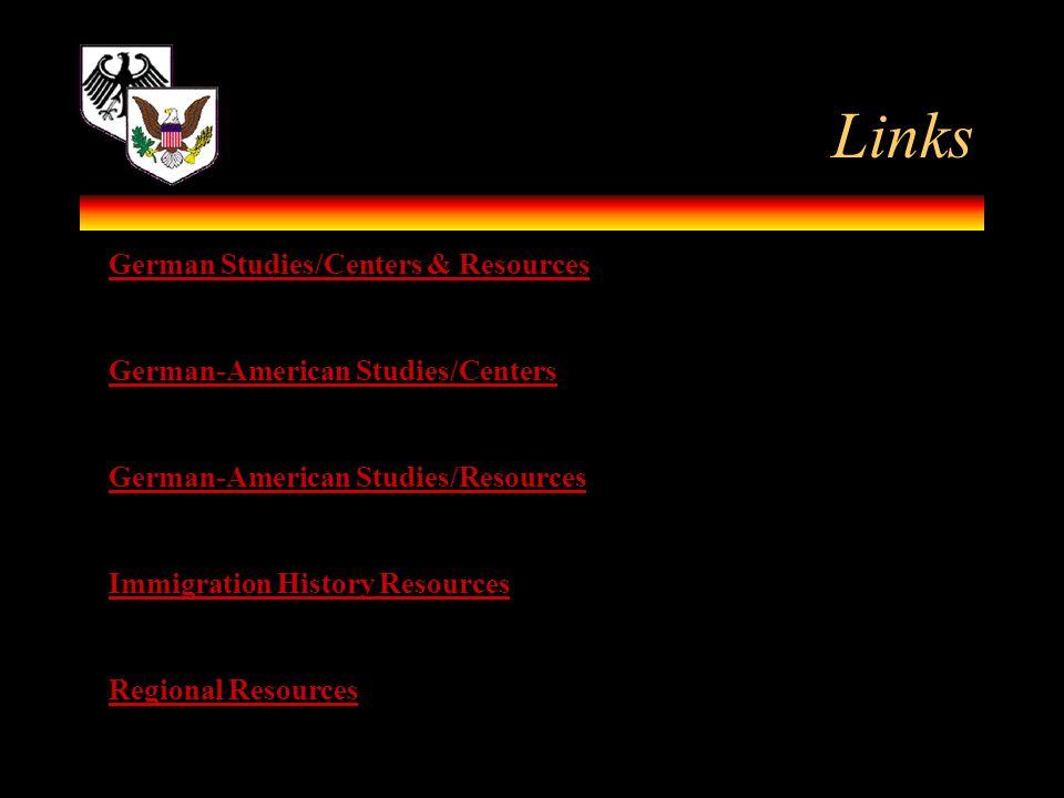 Links German Studies/Centers & Resources
