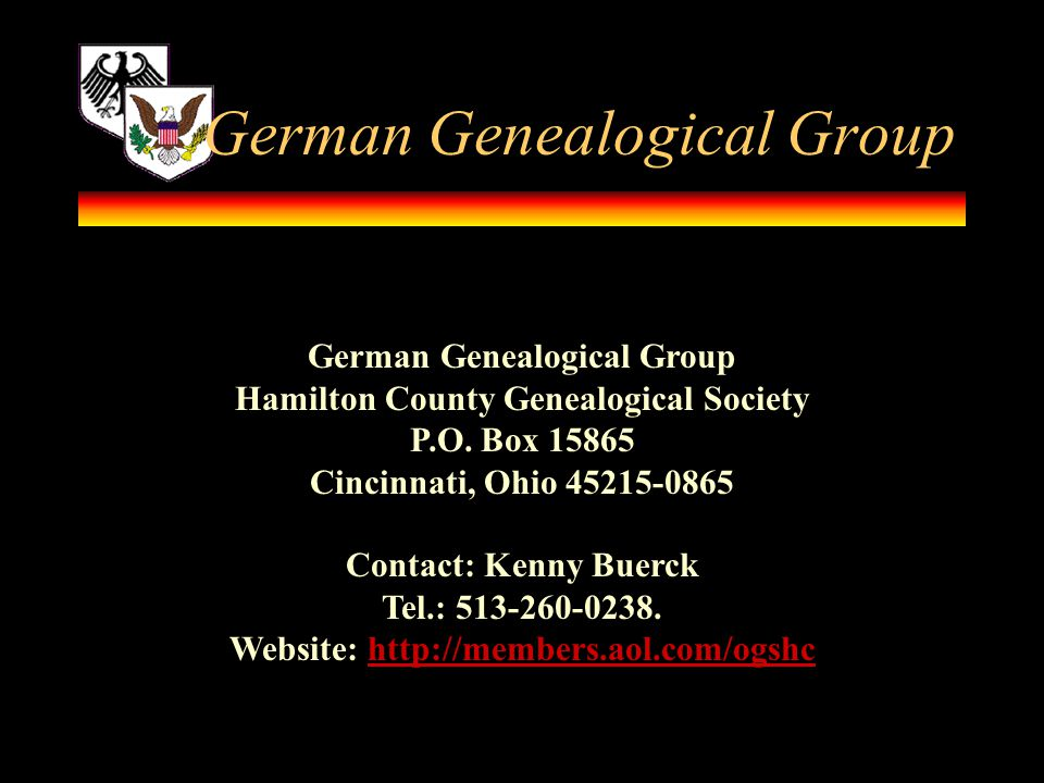 German Genealogical Group