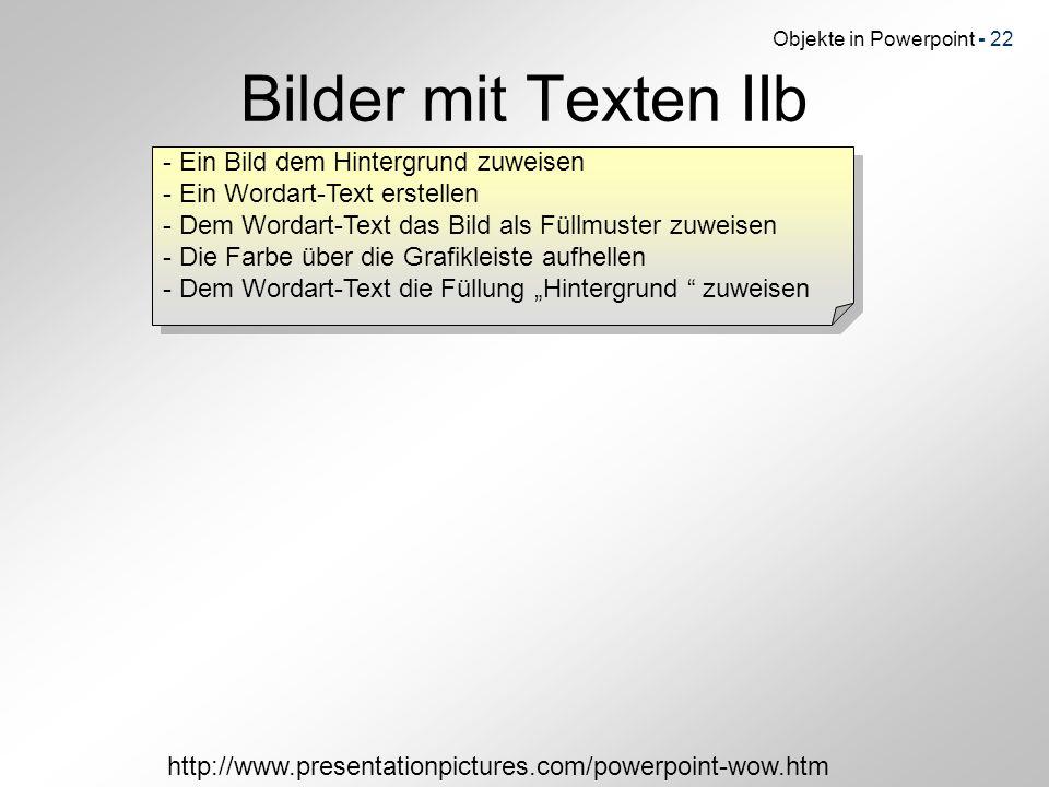 Bilder mit Texten IIb - Ein Bild dem Hintergrund zuweisen