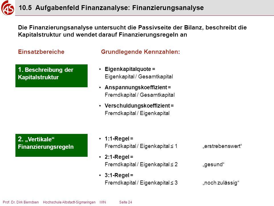 10.5 Aufgabenfeld Finanzanalyse: Finanzierungsanalyse