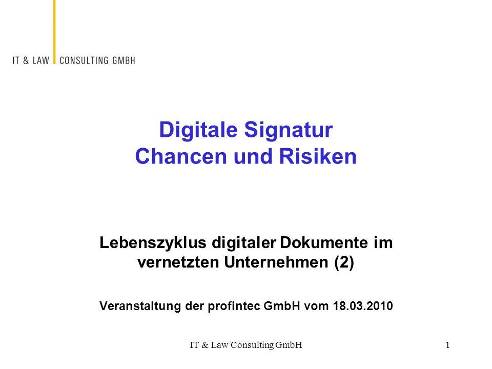 Digitale Signatur Chancen und Risiken