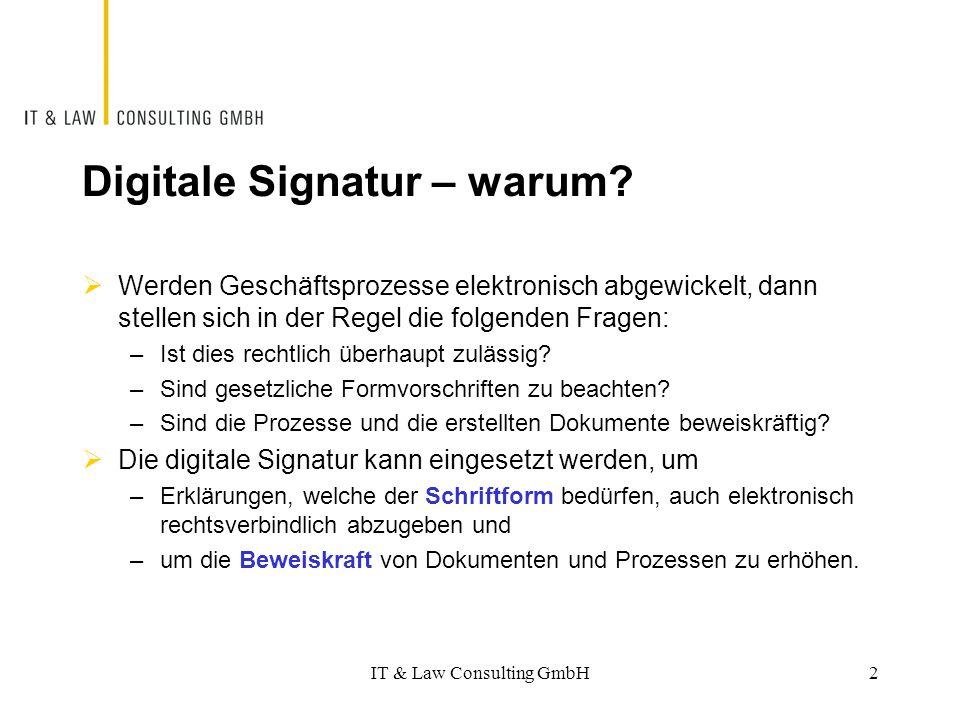 Digitale Signatur – warum