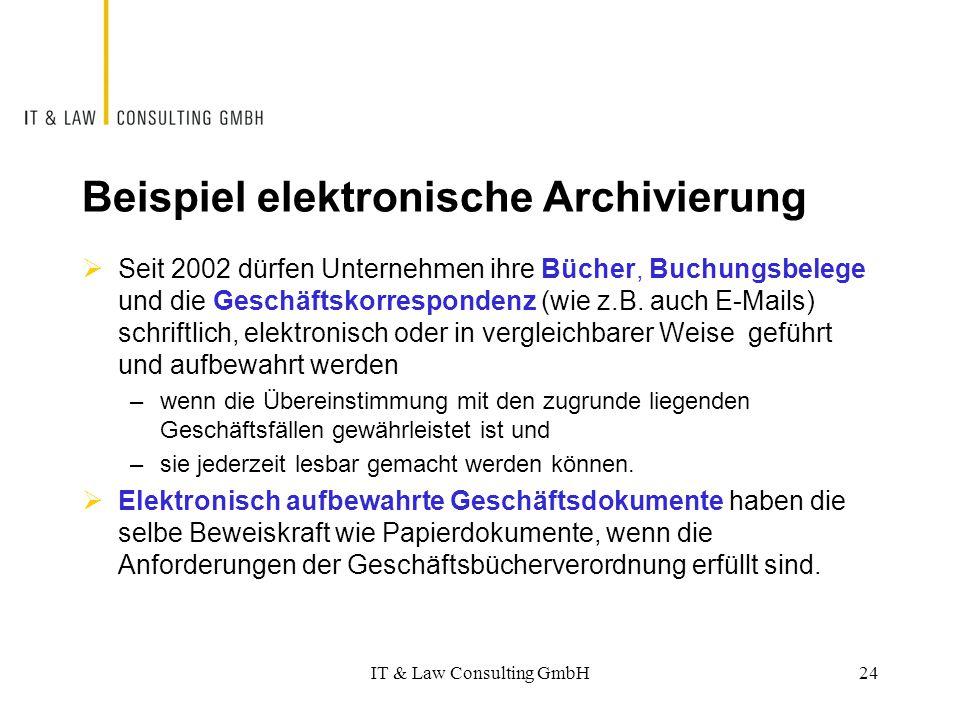 Beispiel elektronische Archivierung
