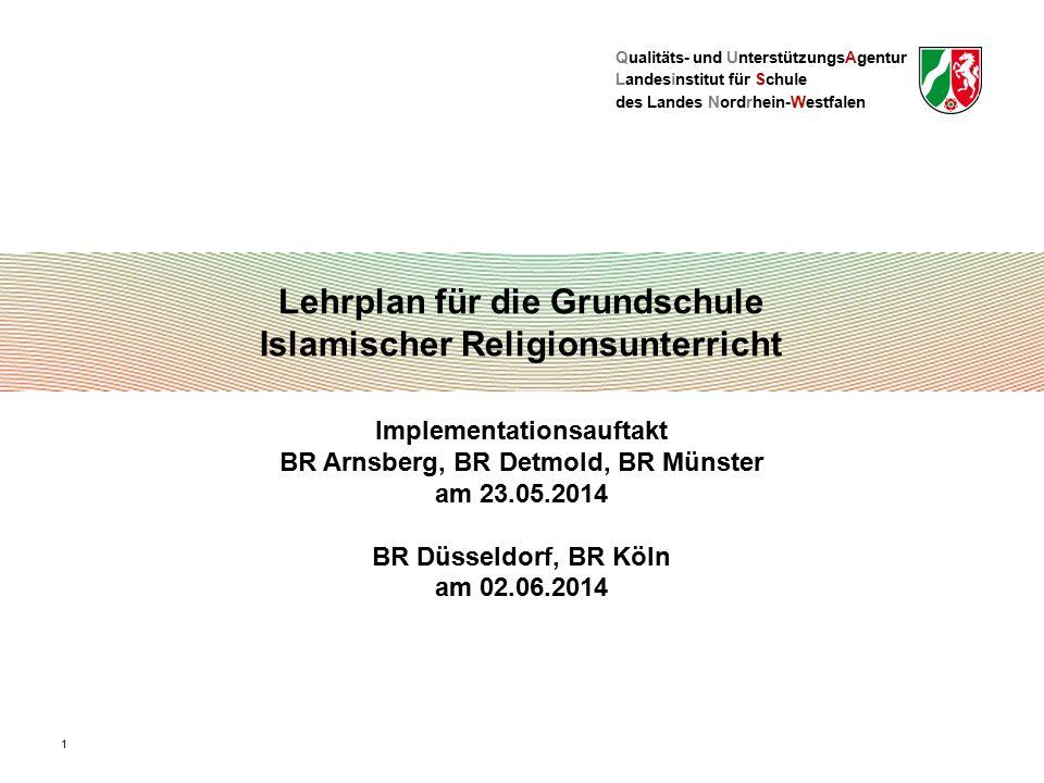 Lehrplan für die Grundschule Islamischer Religionsunterricht