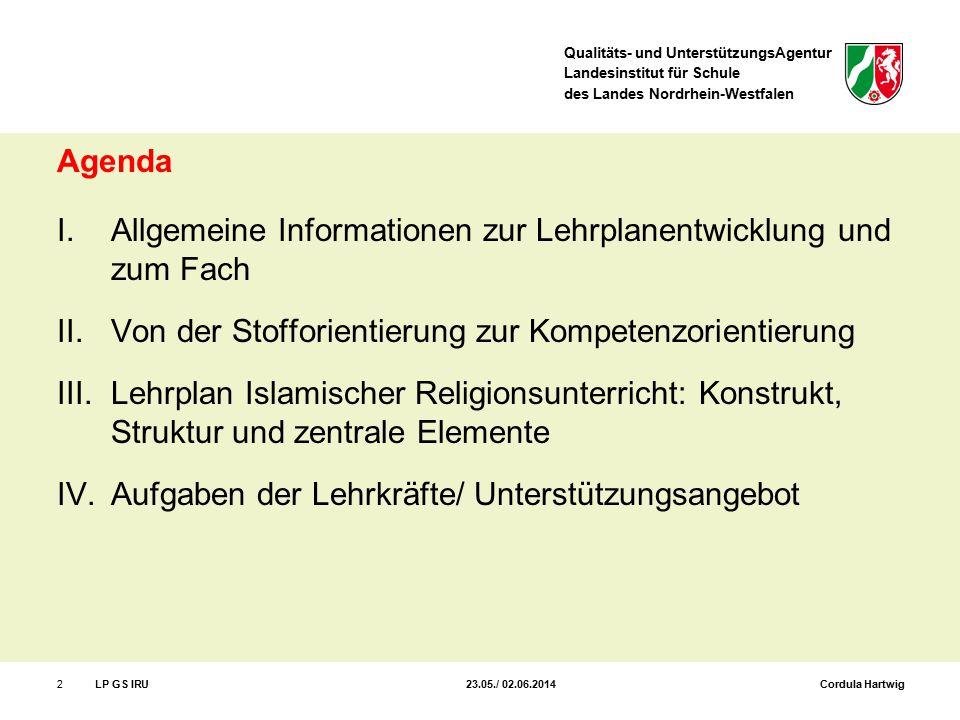 Allgemeine Informationen zur Lehrplanentwicklung und zum Fach
