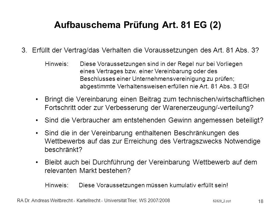 Aufbauschema Prüfung Art. 81 EG (2)