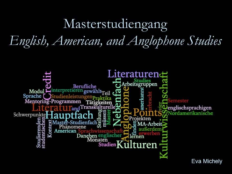 Masterstudiengang English, American, and Anglophone Studies