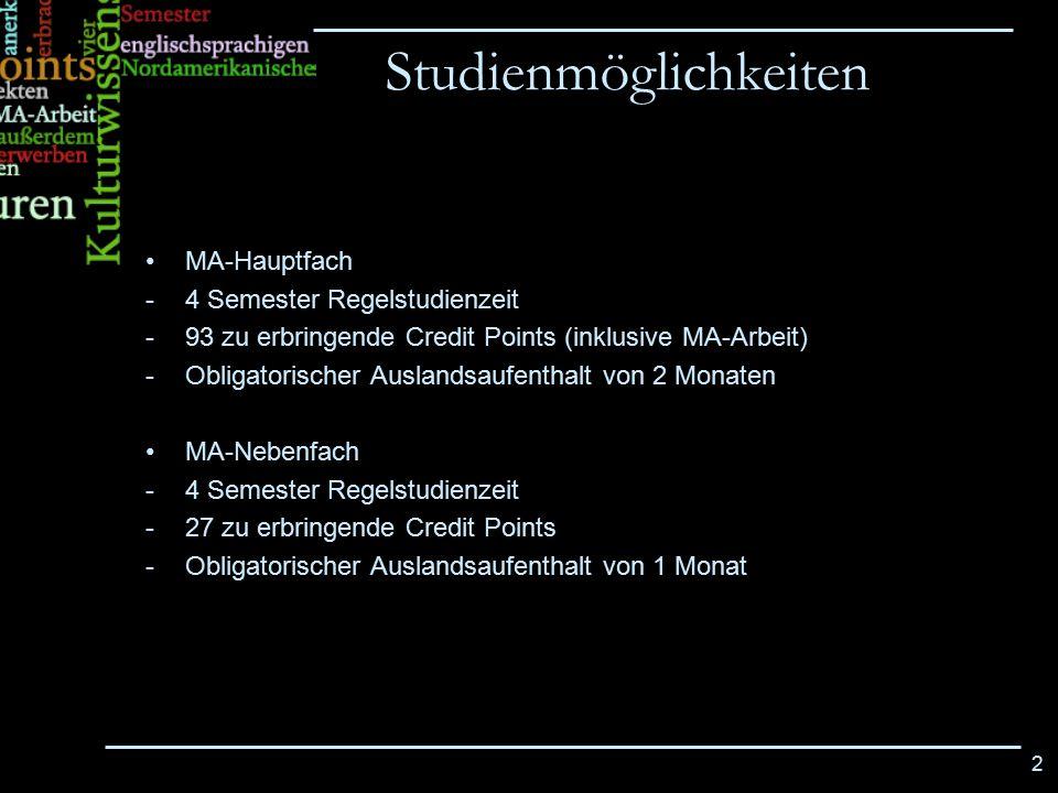 Studienmöglichkeiten