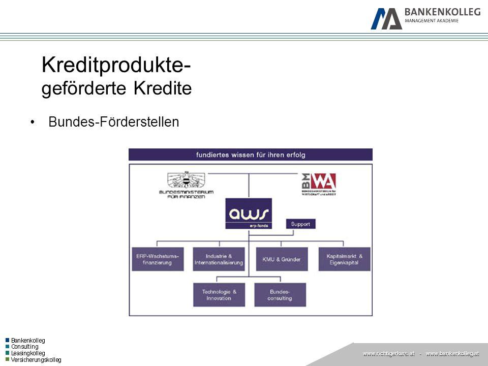 Kreditprodukte- geförderte Kredite