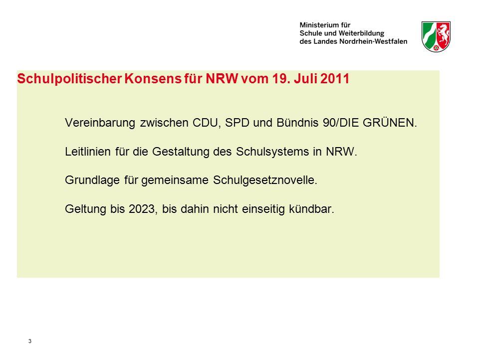 Schulpolitischer Konsens für NRW vom 19. Juli 2011