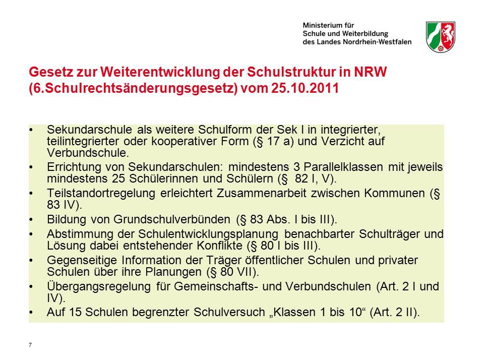 Gesetz zur Weiterentwicklung der Schulstruktur in NRW (6