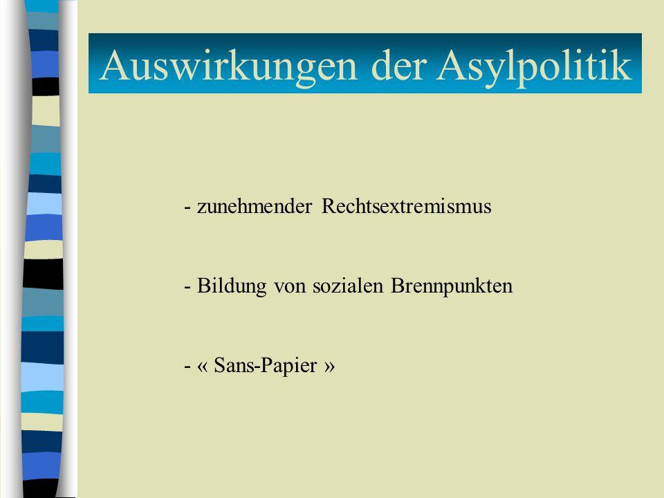 Auswirkungen der Asylpolitik