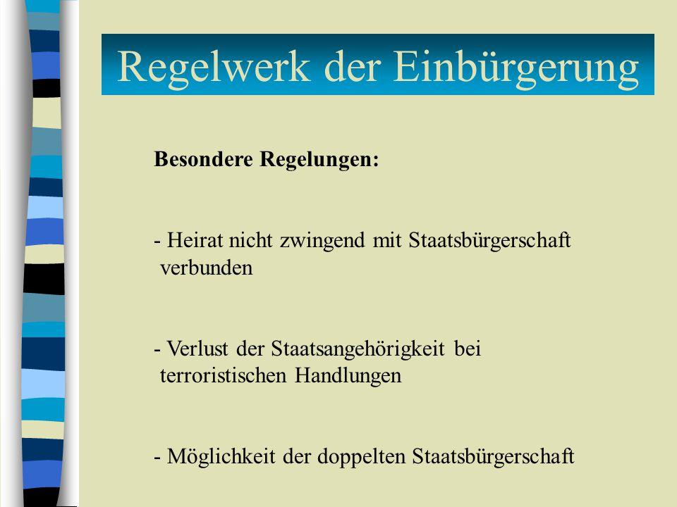 Regelwerk der Einbürgerung