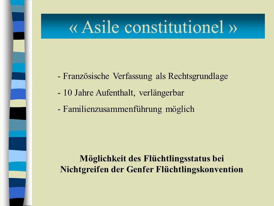 « Asile constitutionel »