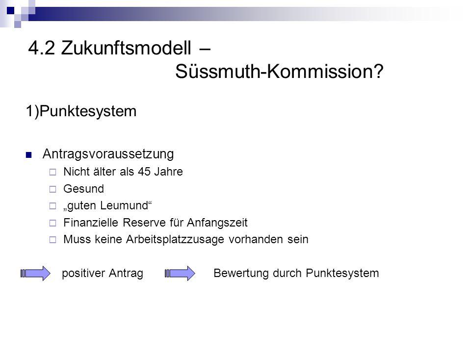 4.2 Zukunftsmodell – Süssmuth-Kommission
