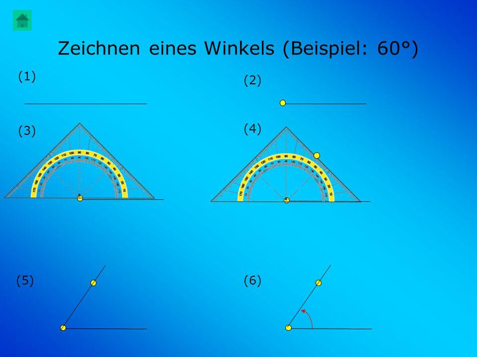 Zeichnen eines Winkels (Beispiel: 60°)