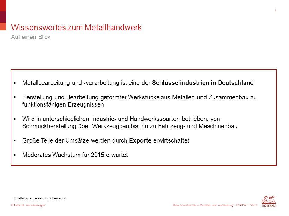 Unternehmen, Beschäftigte, Umsatz (2012)