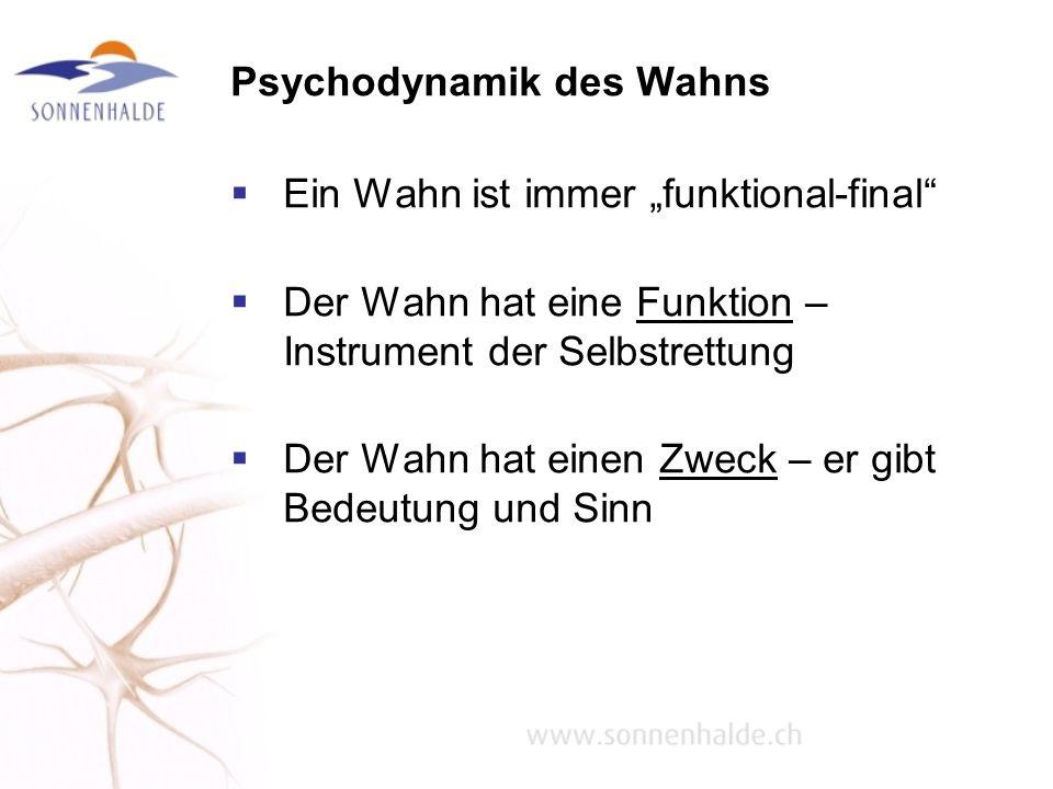 Psychodynamik des Wahns