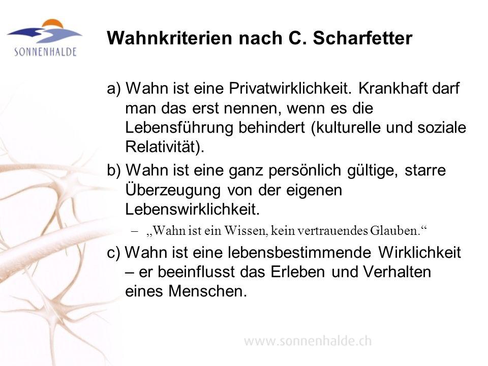 Wahnkriterien nach C. Scharfetter