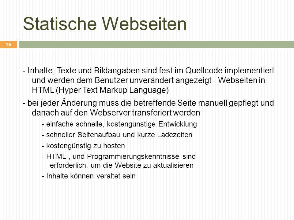 Statische Webseiten