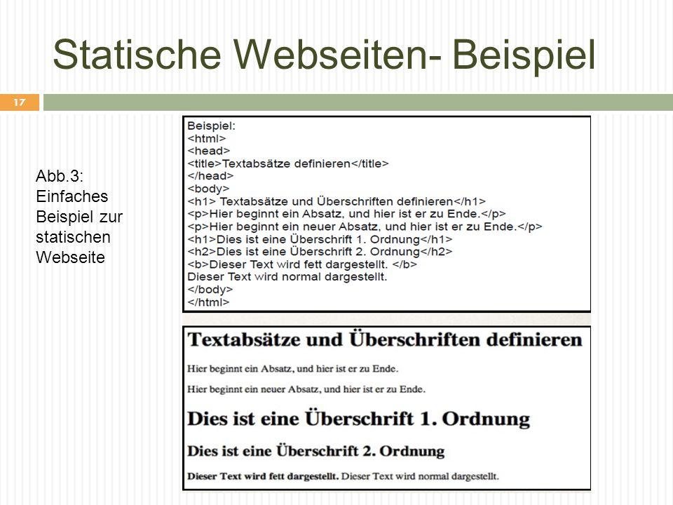 Statische Webseiten- Beispiel