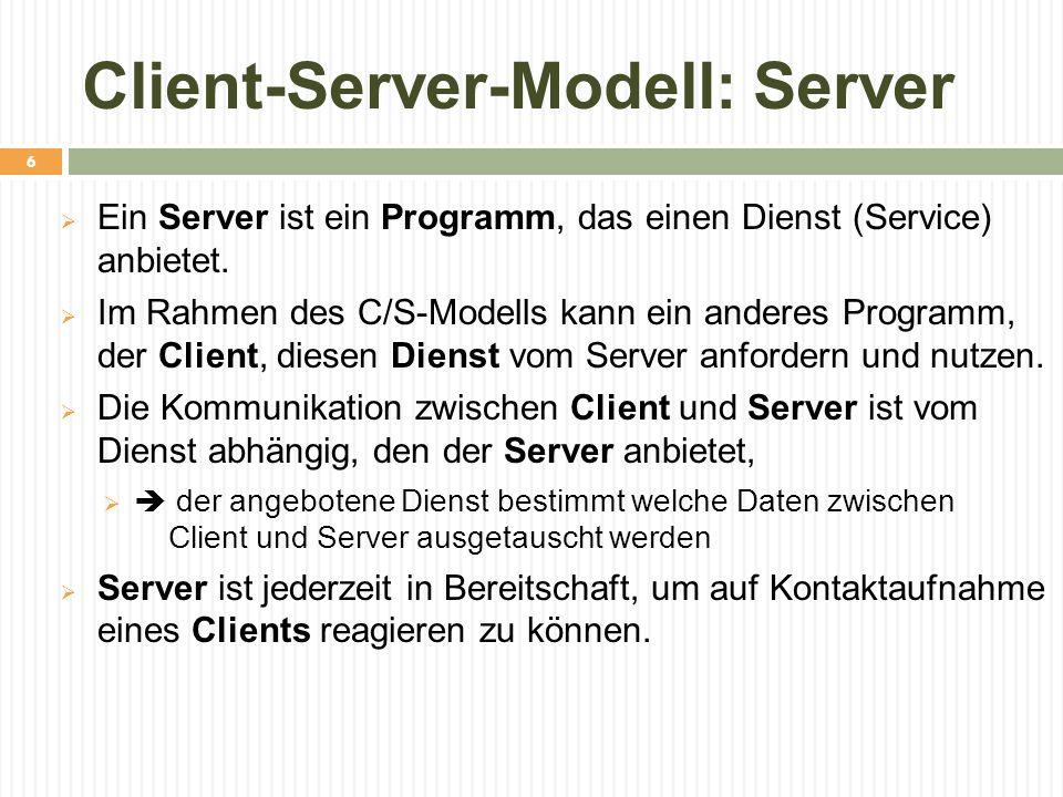 Client-Server-Modell: Server