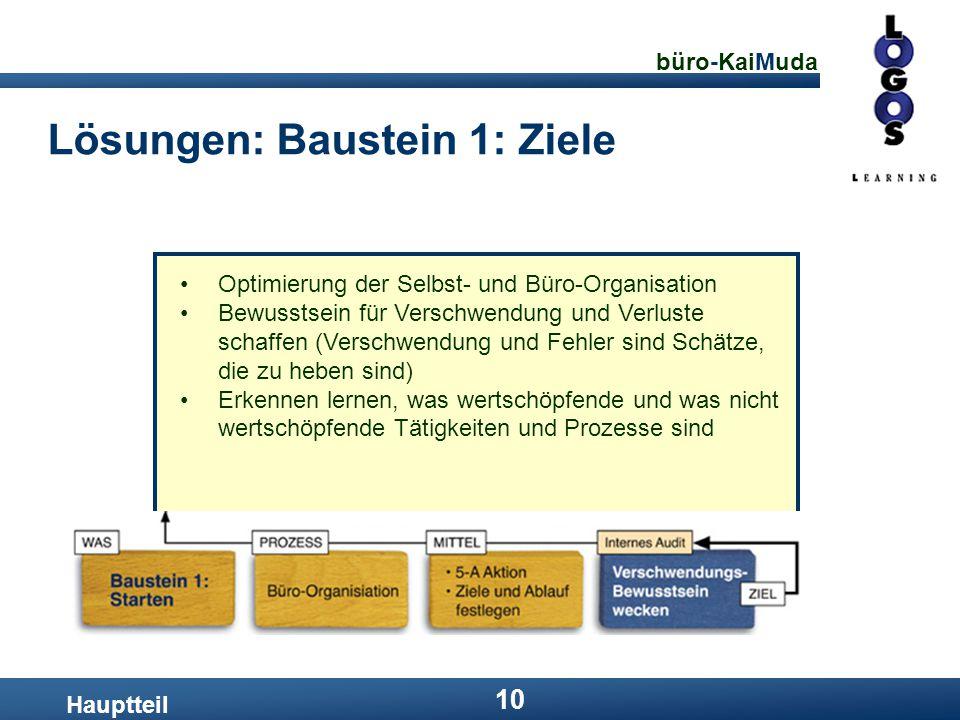Lösungen: Baustein 1: Ziele