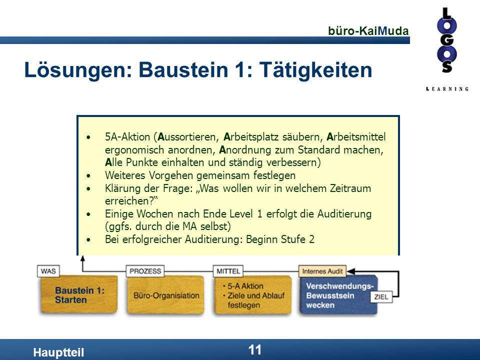 Lösungen: Baustein 1: Tätigkeiten