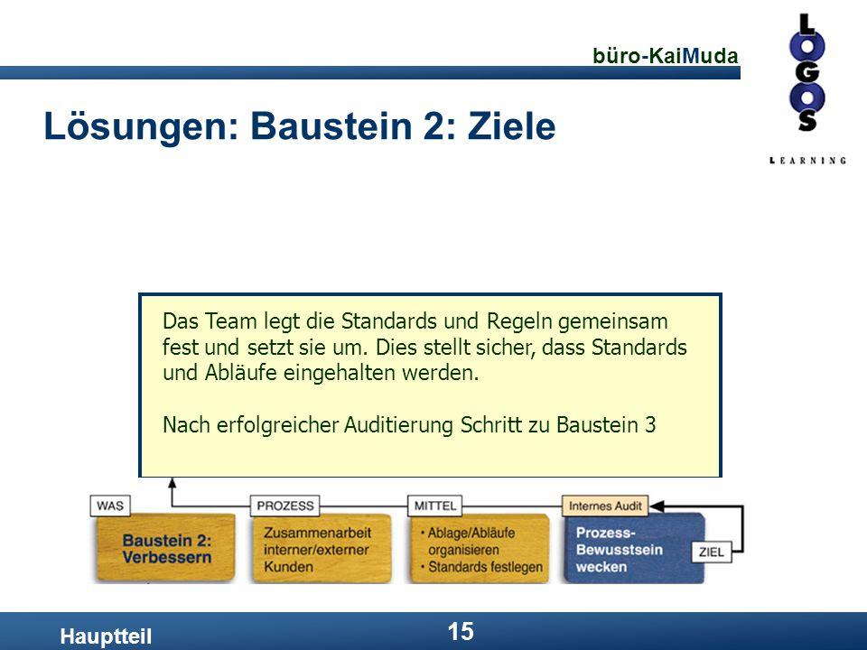 Lösungen: Baustein 2: Ziele