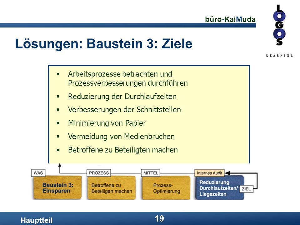 Lösungen: Baustein 3: Ziele