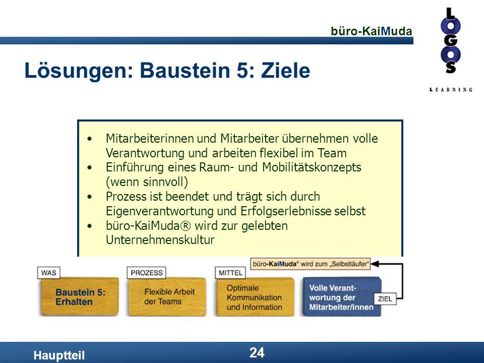 Lösungen: Baustein 5: Ziele