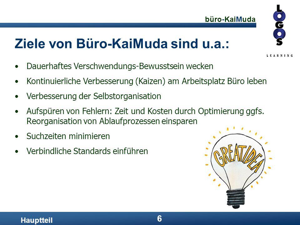 Ziele von Büro-KaiMuda sind u.a.: