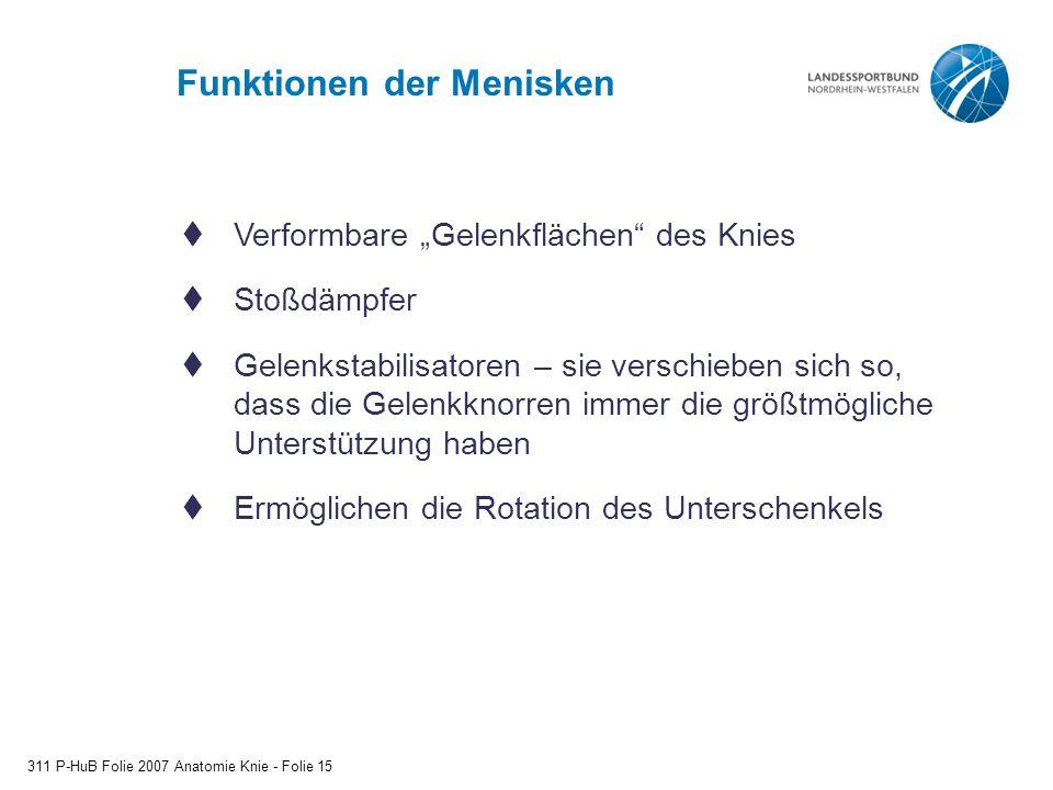 Funktionen der Menisken