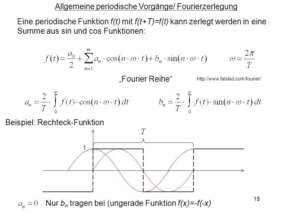 Allgemeine periodische Vorgänge/ Fourierzerlegung