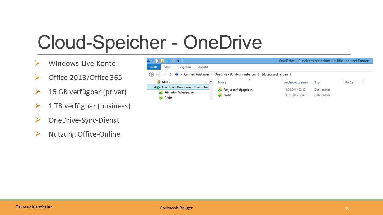 Cloud-Speicher - OneDrive
