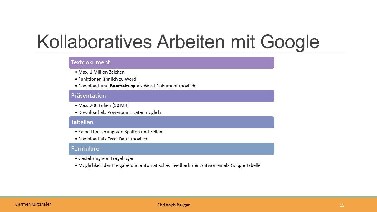 Kollaboratives Arbeiten mit Google