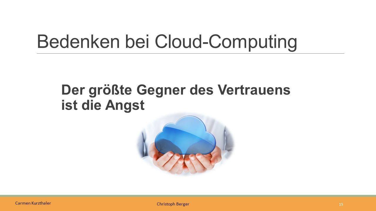 Bedenken bei Cloud-Computing