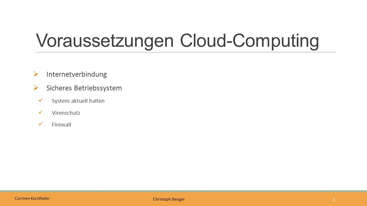Voraussetzungen Cloud-Computing
