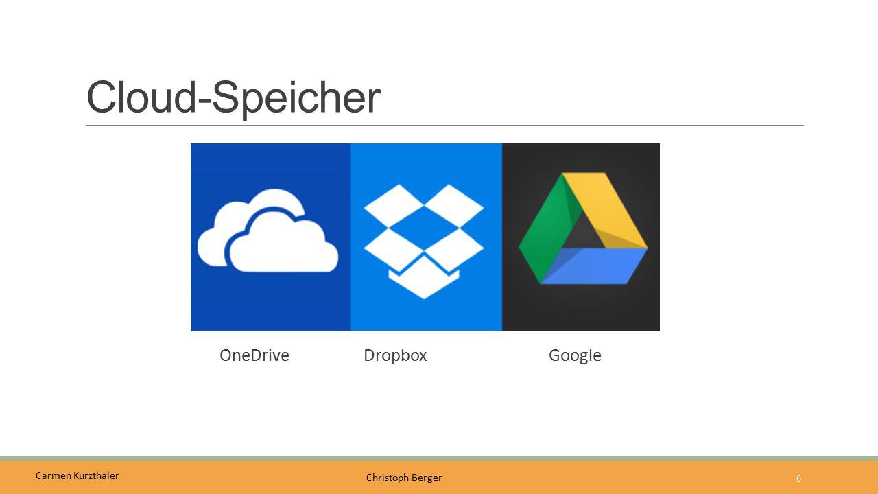 Cloud-Speicher OneDrive Dropbox Google