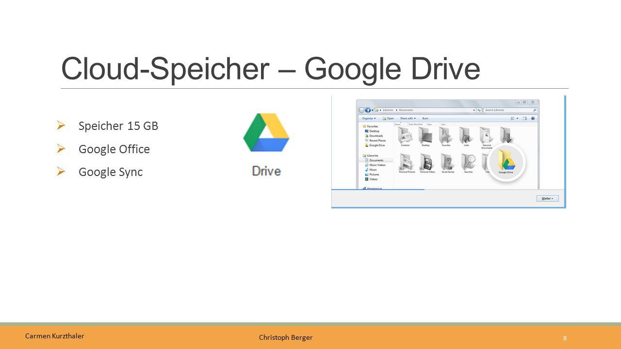 Cloud-Speicher – Google Drive