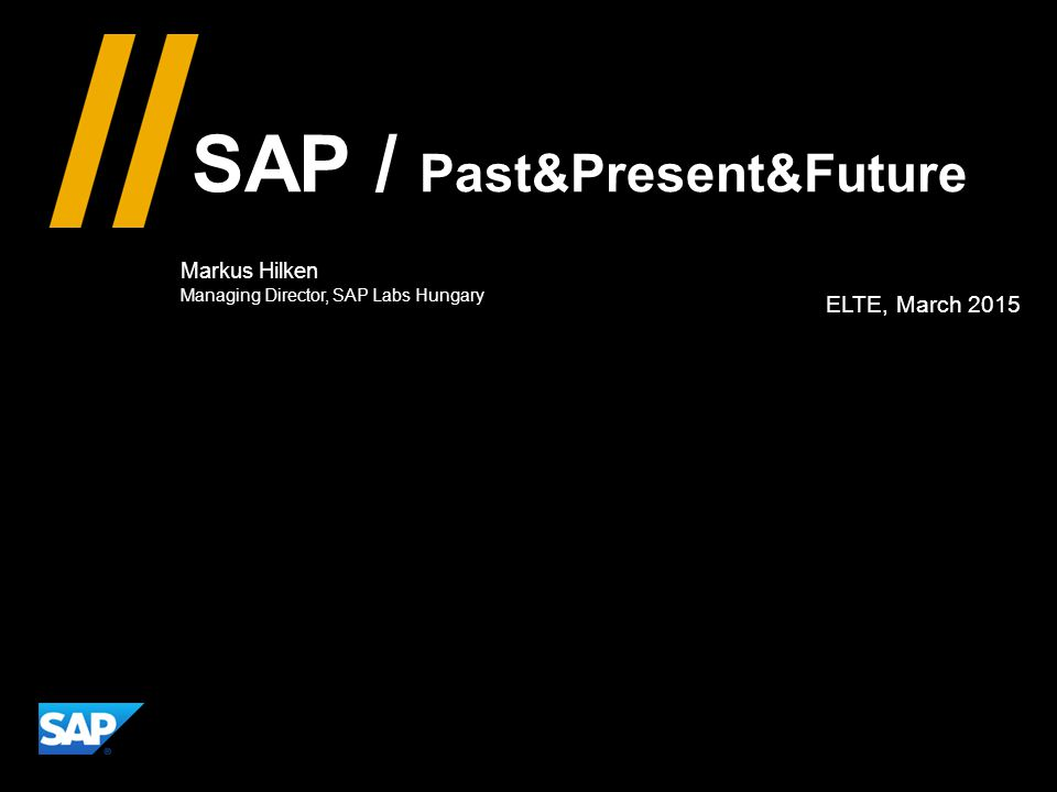 SAP / Past&Present&Future