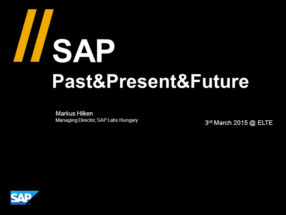 SAP Past&Present&Future