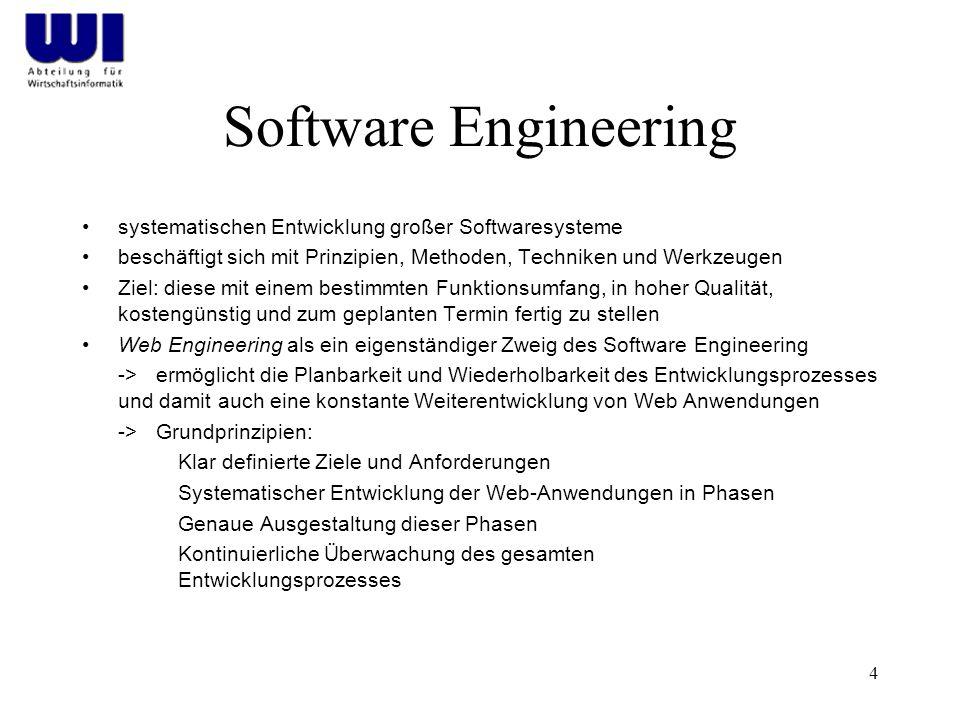 Software Engineering systematischen Entwicklung großer Softwaresysteme