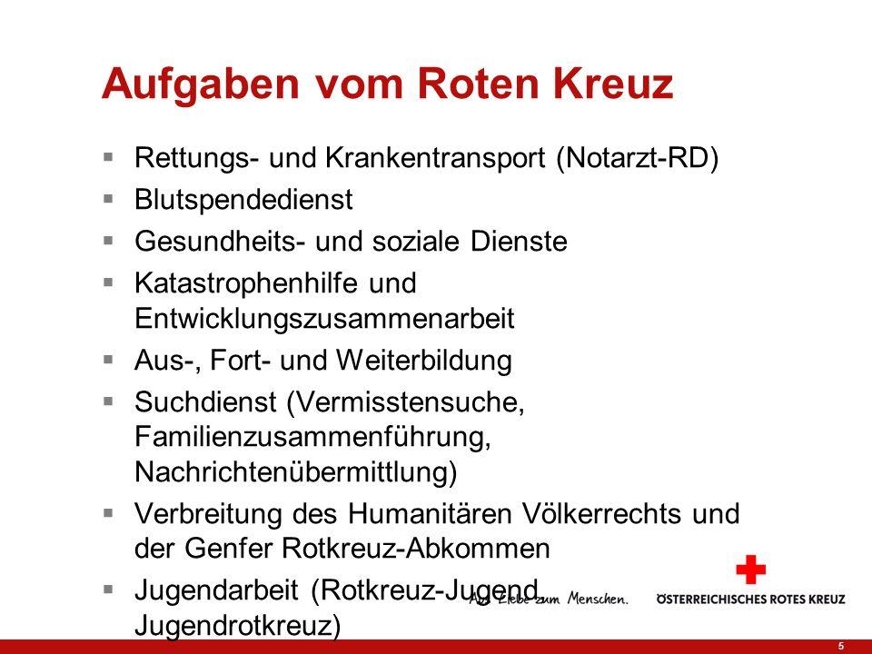 Aufgaben vom Roten Kreuz