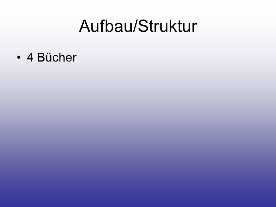 Aufbau/Struktur 4 Bücher