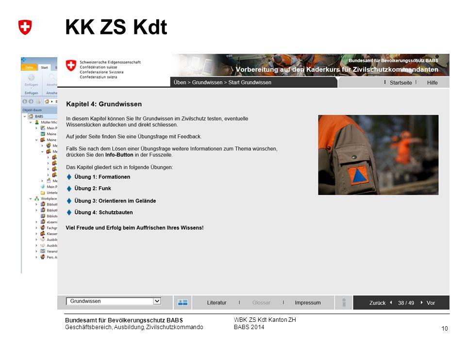 KK ZS Kdt WBK ZS Kdt Kanton ZH BABS 2014